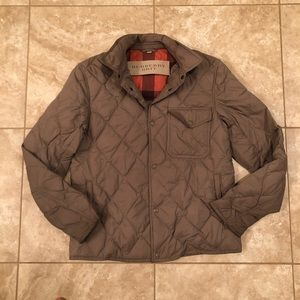 Burberry Men's Size Medium Plaid and Quilted Coat